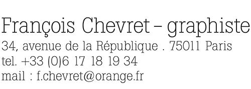 François Chevret | graphiste